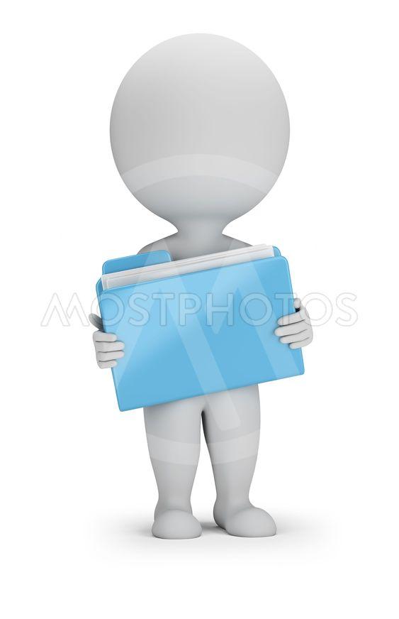 3d small people - folder