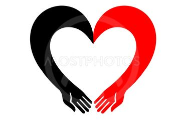 The heart icon. Open, empty hands.