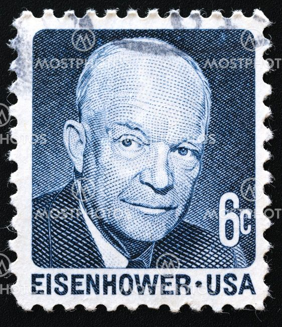 Postage Stamp Of Dwight D Eisenhower USA