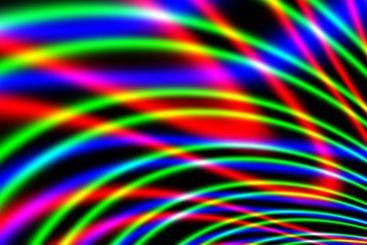 A section of a fractal image with rainbow colors.