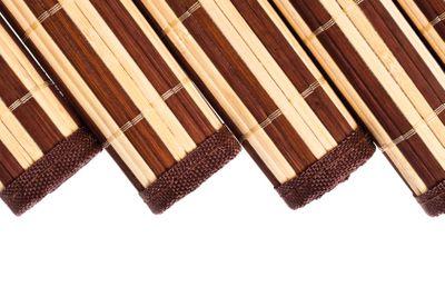 bamboo napkin rolls