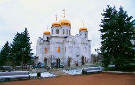 Cathedral of Christ the Savior in Pyatigorsk in wintertime