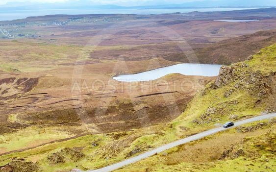 Quiraing mountain, Isle of Skye, Scotland.