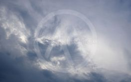 Dark and light bluish tragic cloudscape