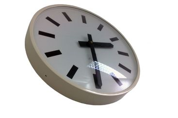 White wall clock on a white background