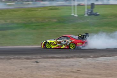 Drifting Toyota Supra
