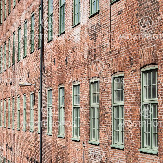Brick wall facade building, Sweden