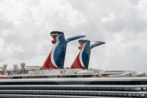 Two Smokestacks on Cruise Ships