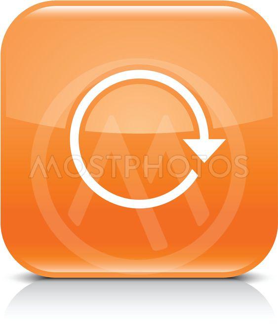 Orange arrow repeat reload refresh rotation icon