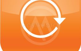 Orange arrow repeat reload refresh rotation icon