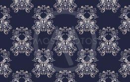 Baroque retro floral pattern