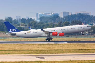 SAS Scandinavian Airlines Airbus A340-300 airplane...