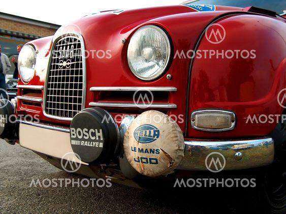 Midnattssolsrallyt - Closeup af Rallycar