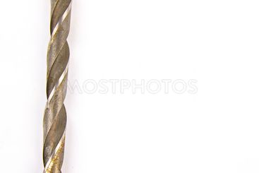 Metal drill on a white background