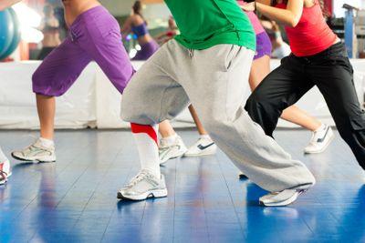 Fitness - Zumba dance training in gym