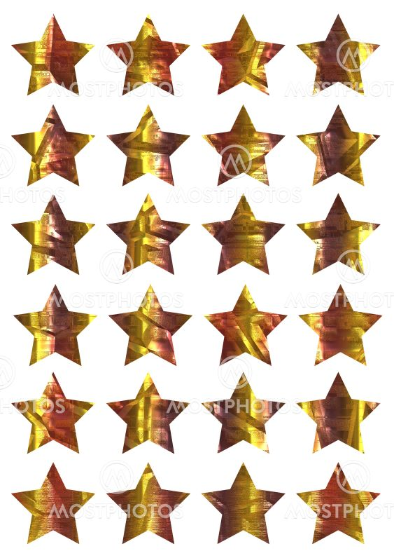 , Decorative stars on template,