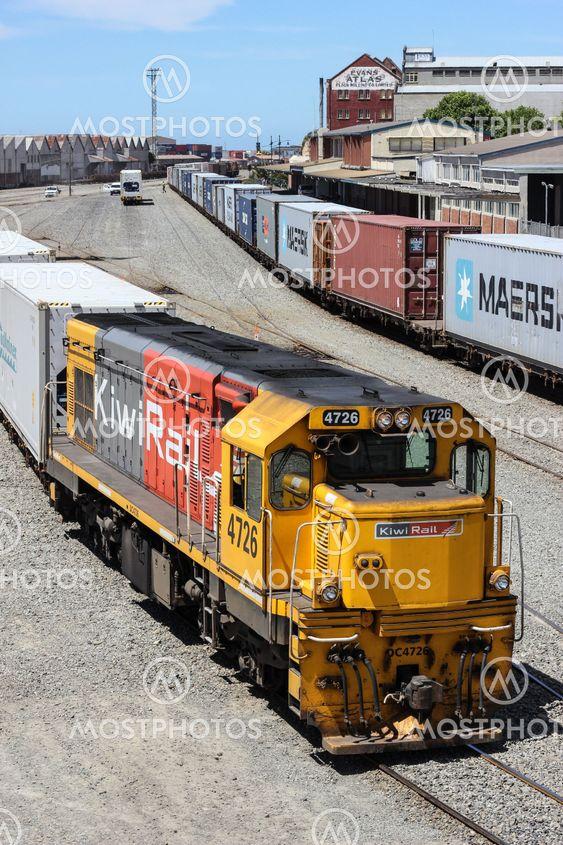 Timaru rail yard, New Zealand.