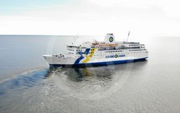 Passenger ferry on the sea in traffic beteen Aland and...