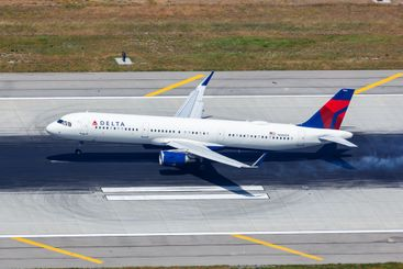 Delta Air Lines Airbus A321 airplane Los Angeles airport...