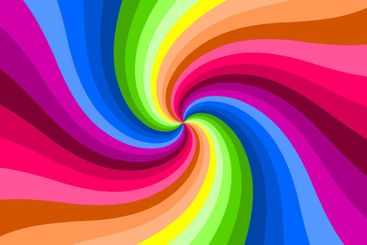Hypnotic color swirl background.