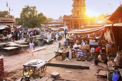 Busy street at Sadar Market, Jodhpur, India