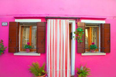 italy, venice : burano,  house