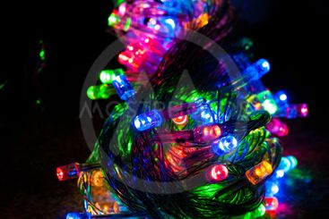 Different colored christmas lights