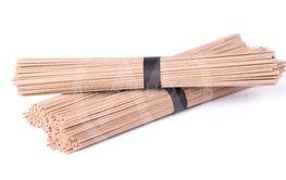 Soba noodles, isolated on white background. Bundle of...