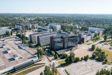 Aerial view of Nokia corporation headquarter campus area