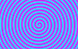 Blue on Pink Coiled Tube