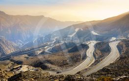 Jebel Jais road in UAE
