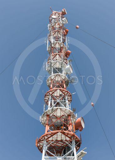 Telecommunication tower at German Helgoland island
