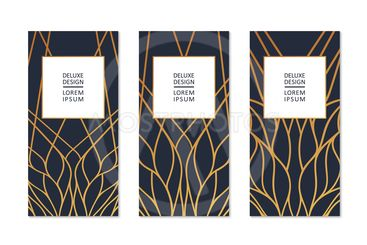 Set of banner template