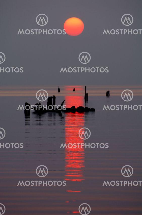 Solnedgång vertikala