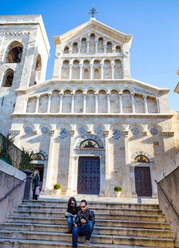 Cagliari Cathedral of Saint Mary in Sardinia Iisland, Italy