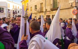 CUENCA, Spain April 2, 2015: preparations for the parade...