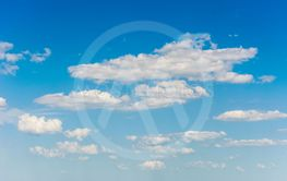 white clouds on blue sky natural background