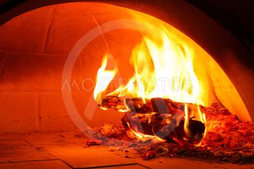 Firewood oven for bake pizza