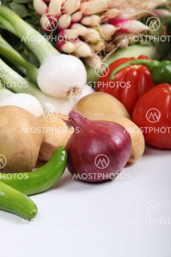 Variety of fresh clean vegetables