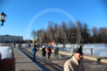 street, people, winter, sunny day, a group of people,...