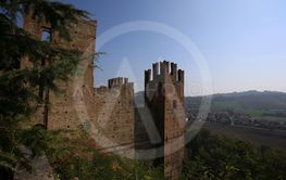 view of castell arquato, a beautiful town