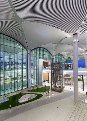Istanbul New Airport ISL IST Terminal blue hour