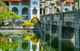 Architectural wonders at the Karangasem water temple in...