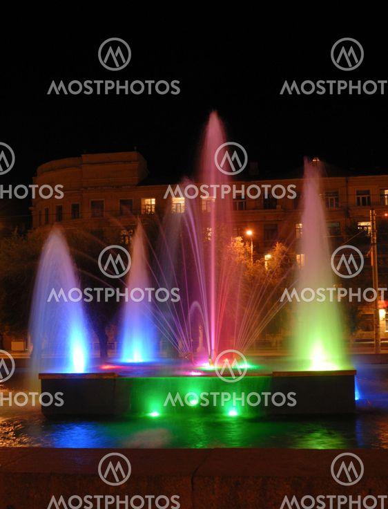 NAT flerfarvet fountain
