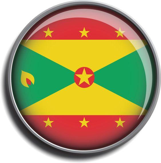 flag icon web button grenada