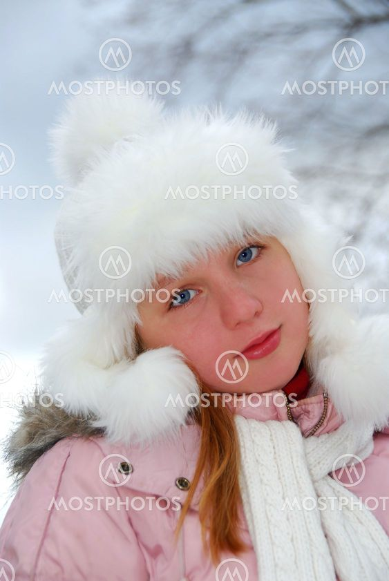 Girl winter hat