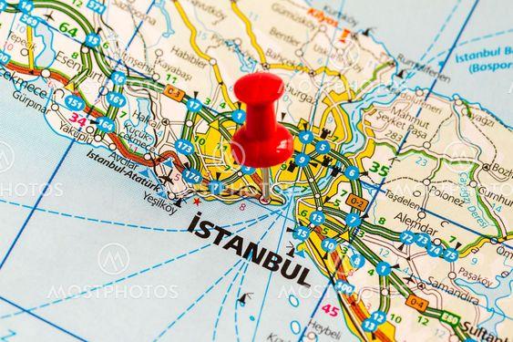 Karta Over Istanbul Av Bengt Hultqvist Mostphotos