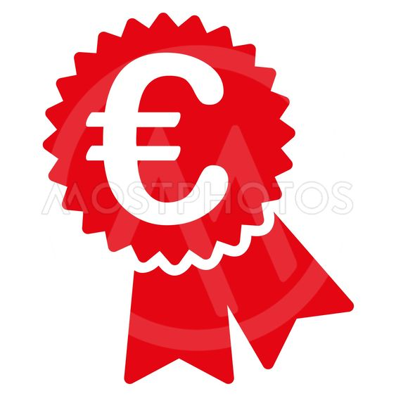 Euro Featured Price Tag Flat Glyph Icon
