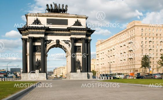 triumphal arch in Moscow city