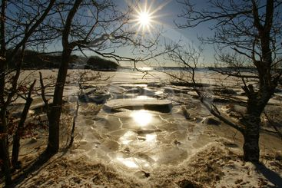 Sparkling winter's day in Karlskrona archipelago